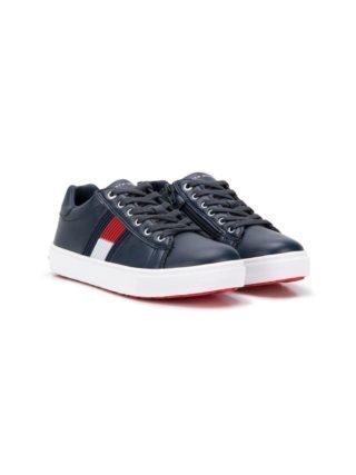 Tommy Hilfiger Junior Sneakers met logo (blauw)