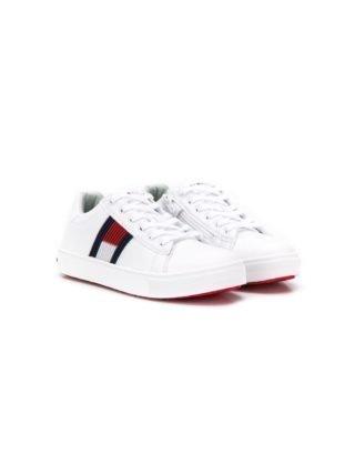 Tommy Hilfiger Junior Sneakers met logo (wit)