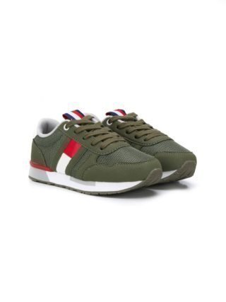 Tommy Hilfiger Junior Sneakers met logo (groen)