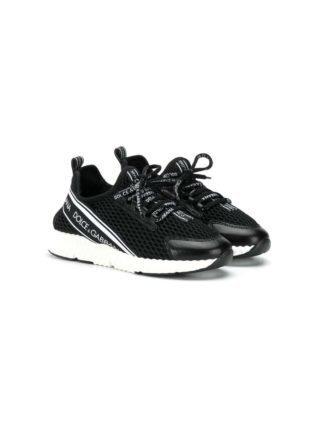 Dolce & Gabbana Kids DNA sneakers met mesh (zwart)