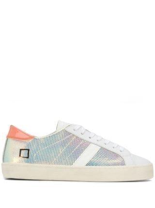 D.A.T.E. Iridescent sneakers (zilver)