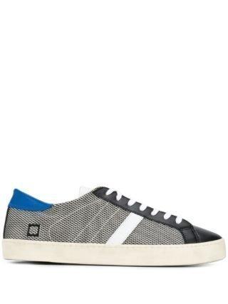D.A.T.E. Sneakers met veters (zwart)
