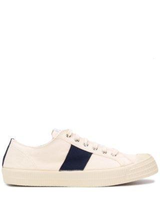 Universal Works Sneakers met zijstreep (wit)