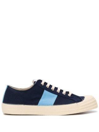Universal Works Sneakers met colourblocking (blauw)