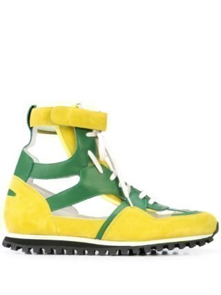 Comme Des Garçons Homme Plus CDG Spalwart Marathon high-top sneakers (geel)
