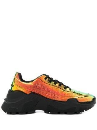Joshua Sanders Zenithh sneakers met plateauzool - Oranje