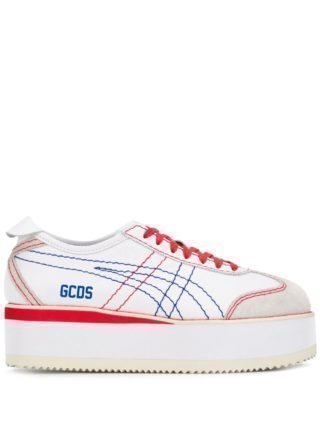 Gcds Mexico sneakers met plateauzool (wit)