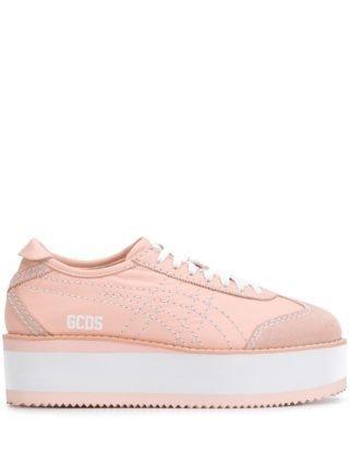 Gcds Mexico sneakers met plateauzool (roze)