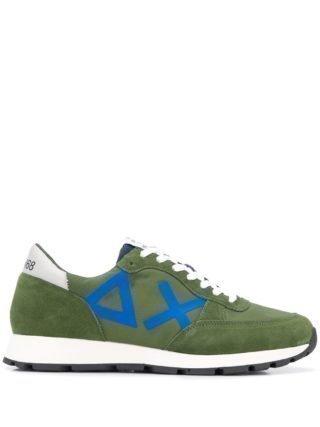 Sun 68 Hardloop sneakers met panelen (groen)