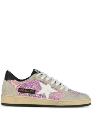 Golden Goose Deluxe Brand Ball Star sneakers - Lilac Glitter