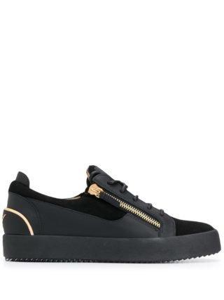 Giuseppe Zanotti Frankie kenmerkende sneakers - Zwart