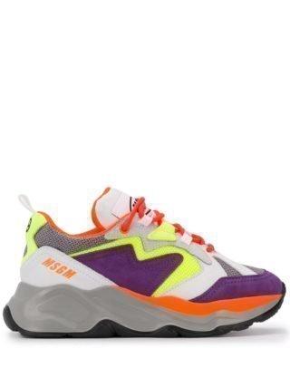 MSGM Sneakers met sleehak - Paars