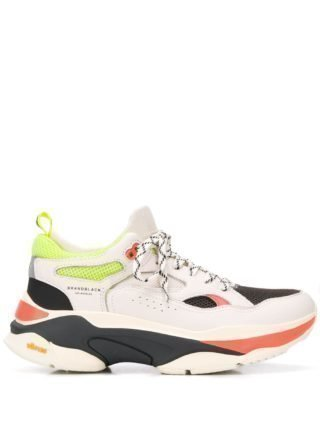 Brandblack Sneakers met colourblocking (wit)