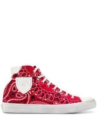 Saint Laurent Bedford high-top sneakers (rood)