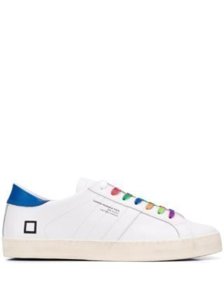D.A.T.E. Sneakers met contrasterende veters (wit)