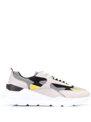 D.A.T.E. Sneakers met panelen (grijs)