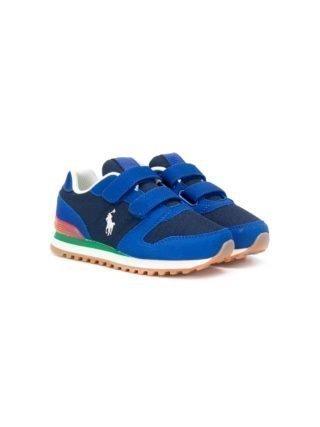 Ralph Lauren Kids Sneakers met klittenband (blauw)