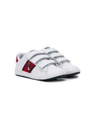 Ralph Lauren Kids Polo Beer sneakers (wit)