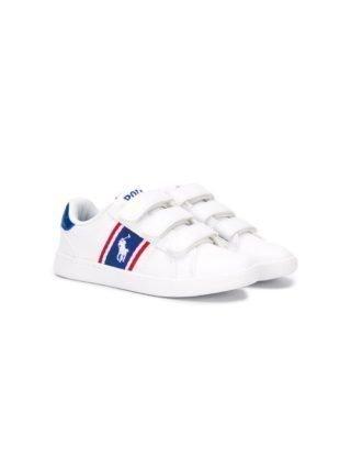 Ralph Lauren Kids Sneakers met klittenband (wit)