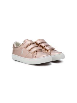 Ralph Lauren Kids Sneakers met bandje (roze)