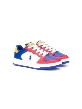 Ralph Lauren Kids Sneakers met colourblocking (blauw)