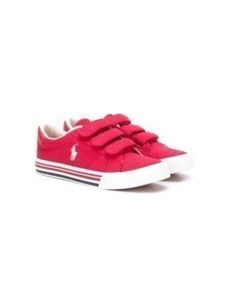 Ralph Lauren Kids Sneakers met klittenband (rood)