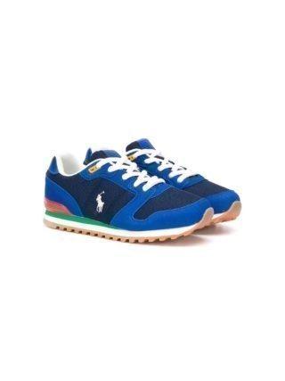 Ralph Lauren Kids Sneakers met contrasterend logo (blauw)
