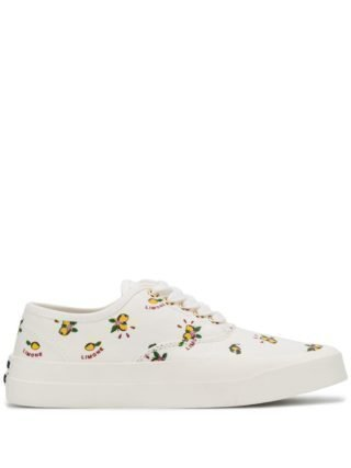 Maison Kitsuné Sneakers met citroenprint (wit)