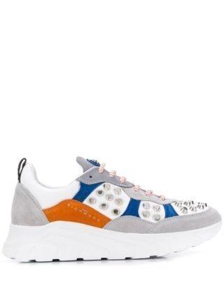 John Richmond Sneakers met studs (grijs)