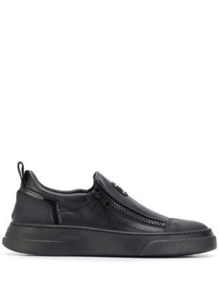 Bruno Bordese low-top zipper sneakers (zwart)