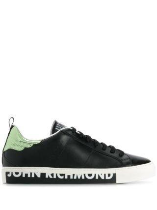 John Richmond Sneakers met print (zwart)