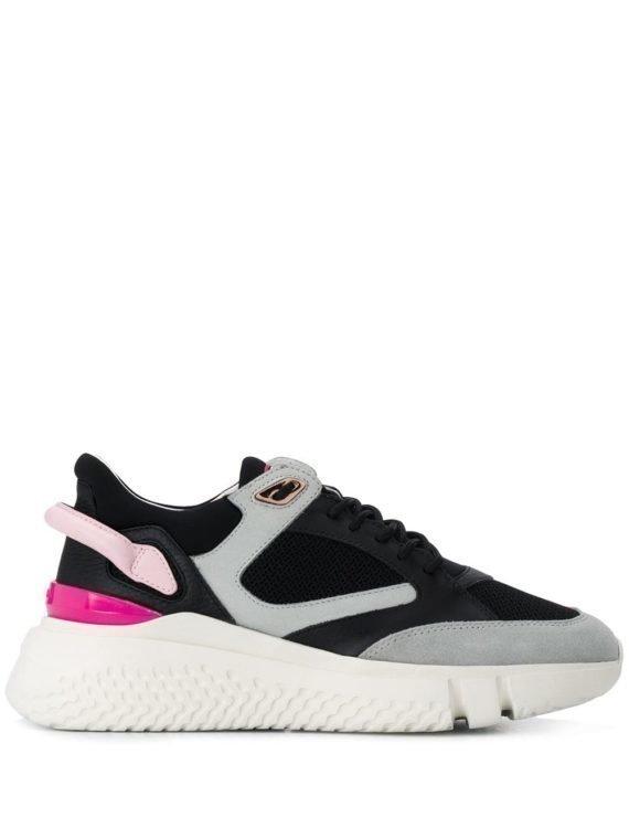 Buscemi colour block chunky sneakers – Zwart