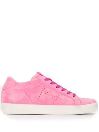 Leather Crown Low-top sneakers (roze)