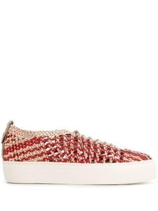 Agl Geweven sneakers (rood)