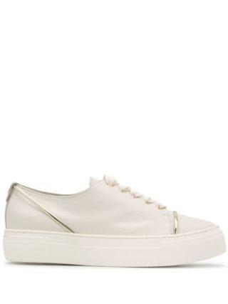 Agl platform sole sneakers (wit)