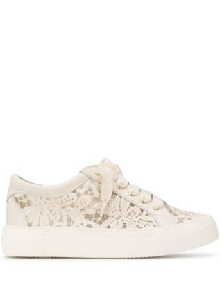 Agl lace design sneakers (wit)