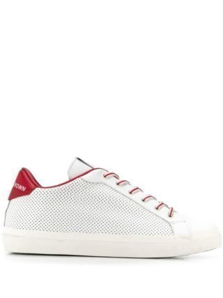 Leather Crown Iconic sneakers (wit)