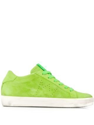 Leather Crown Iconic sneakers (groen)