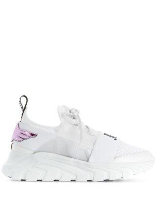 John Richmond elasticated strap sneakers (wit)