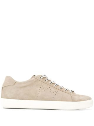 Leather Crown Iconic low-top sneakers - Nude