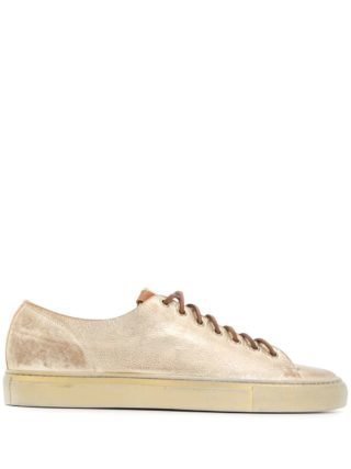 Buttero Sneakers met contrasterende veters (goud)