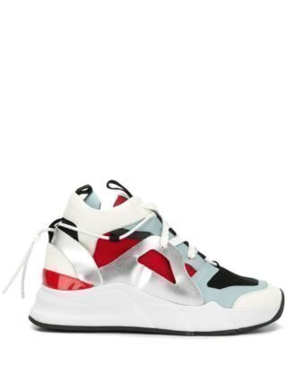 D.Gnak panelled high top sneakers (wit)