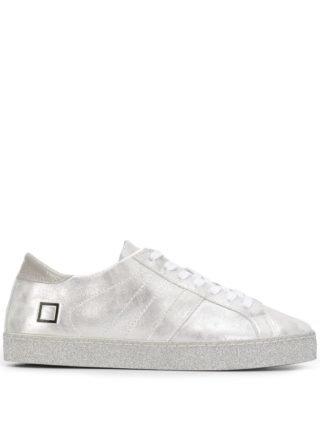 D.A.T.E. Metallic sneakers (zilver)
