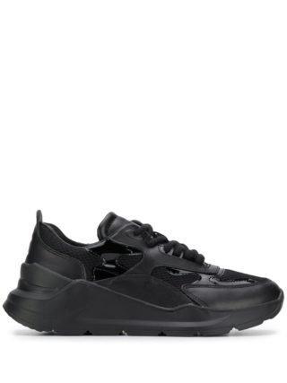 D.A.T.E. Sneakers met pand (zwart)