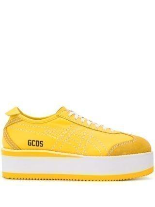 Gcds Sneakers met plateauzool (geel)