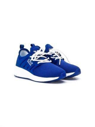 Emporio Armani Kids Sneakers met logo (blauw)
