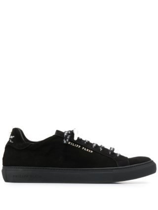 Philipp Plein low megastar sneakers (zwart)