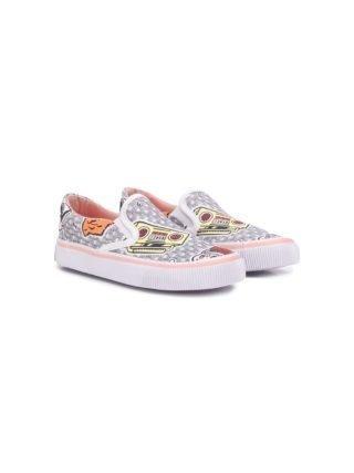 Kenzo Kids Canvas sneakers (wit)