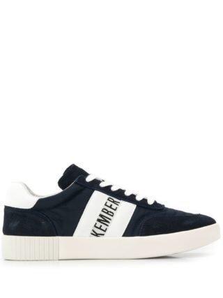 Dirk Bikkembergs classic brand lo-top sneakers (blauw)