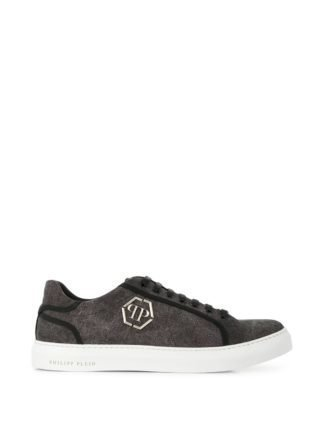 Philipp Plein logo plaque sneakers (zwart)